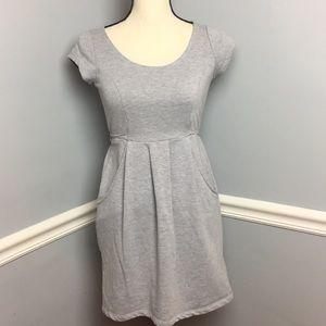 Kimchi Blue Grey Sweatshirt Dress (S)